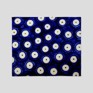 Polish Pottery Polka Dots Throw Blanket