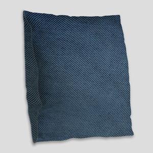Denim Burlap Throw Pillow