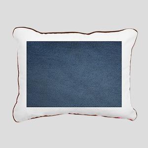 Denim Rectangular Canvas Pillow