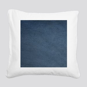 Denim Square Canvas Pillow