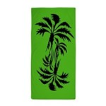 Green Palm Trees Beach Towel