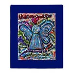 Colorful Cancer Angel Throw Blanket