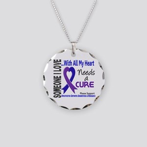 RA Needs a Cure 3 Necklace Circle Charm
