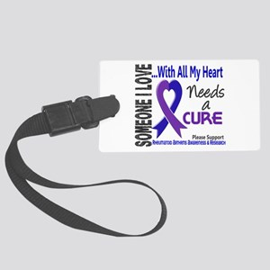 RA Needs a Cure 3 Large Luggage Tag