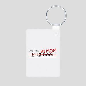 Job Mom Engineer Aluminum Photo Keychain