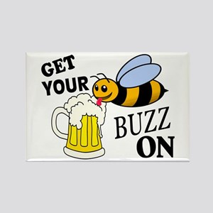 Get Your Buzz On Rectangle Magnet