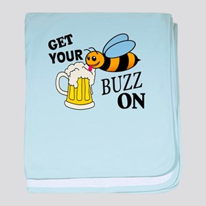 Get Your Buzz On baby blanket
