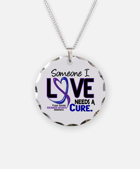 RA Needs a Cure 2 Necklace Circle Charm