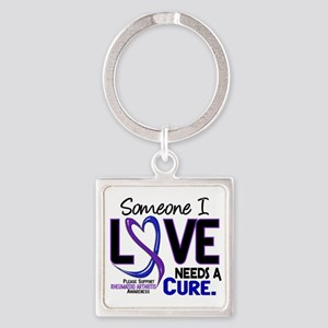 RA Needs a Cure 2 Square Keychain