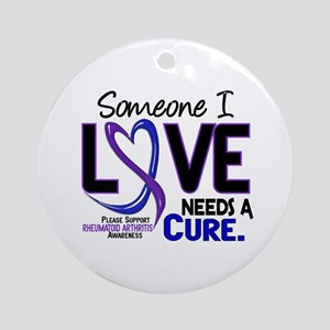 RA Needs a Cure 2 Ornament (Round)