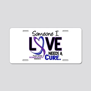 RA Needs a Cure 2 Aluminum License Plate