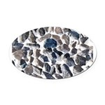 Asteroids Oval Car Magnet