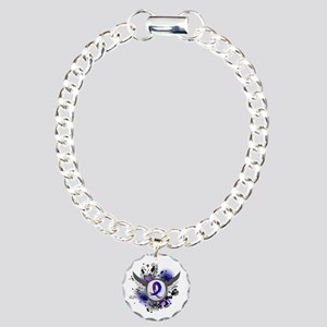 RA Grunge Ribbon Wings Charm Bracelet, One Charm