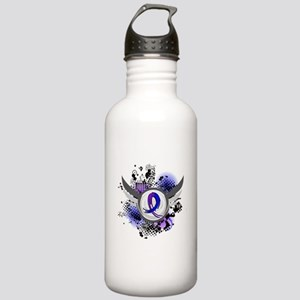 RA Grunge Ribbon Wings Stainless Water Bottle 1.0L