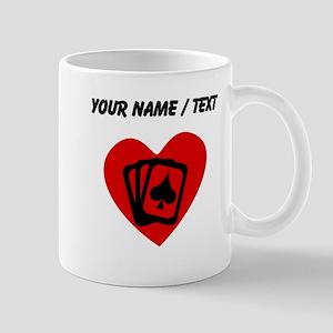 Custom Poker Heart Mugs