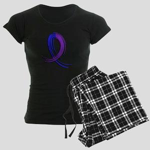 RA Graffiti Ribbon 2 Women's Dark Pajamas