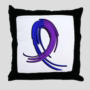RA Graffiti Ribbon 2 Throw Pillow