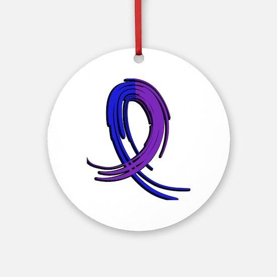 RA Graffiti Ribbon 2 Ornament (Round)