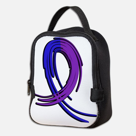 RA Graffiti Ribbon 2 Neoprene Lunch Bag