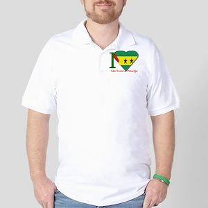 I love Sao Tome Golf Shirt