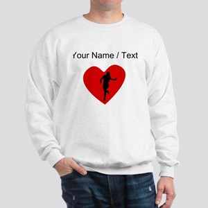 Custom Running Heart Sweatshirt