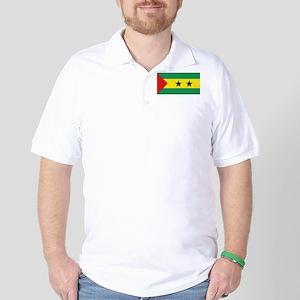 Sao Tome e Principe flag Golf Shirt