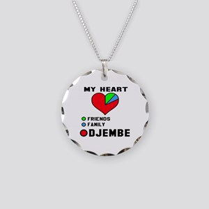 My Heart Friends Family and Necklace Circle Charm