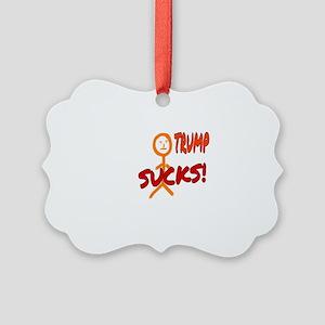 TRUMP SUCKS! Picture Ornament