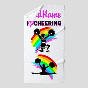 Love Cheering Beach Towel