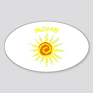 Rome, Italy Oval Sticker