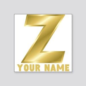 custom gold letter z sticker