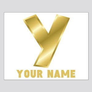 Custom Gold Letter Y Posters