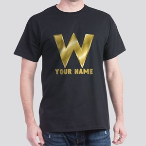 Custom Gold Letter W T-Shirt