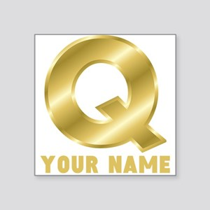 Custom Gold Letter Q Sticker