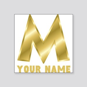 Custom Gold Letter M Sticker