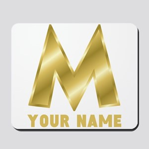 Custom Gold Letter M Mousepad