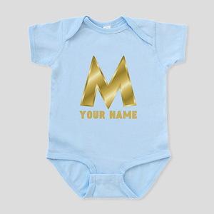 Custom Gold Letter M Body Suit