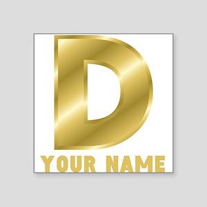 Custom Gold Letter D Sticker