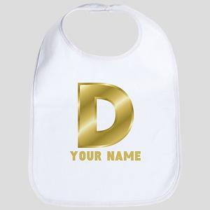 Custom Gold Letter D Bib