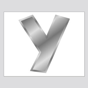 Silver Letter Y Posters