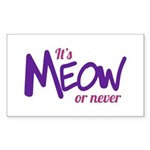Its meow or never Sticker
