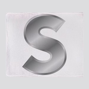Silver Letter S Throw Blanket