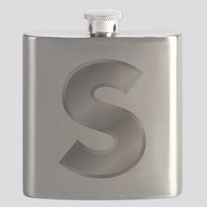 Silver Letter S Flask
