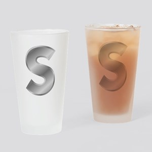 Silver Letter S Drinking Glass