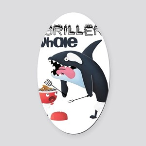 Griller whale Oval Car Magnet