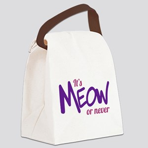 Its meow or never Canvas Lunch Bag