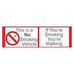 Smokeless vehicle Bumper Sticker