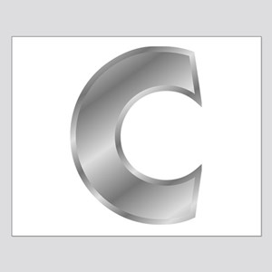 Silver Letter C Posters