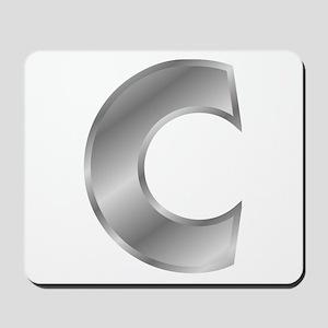 Silver Letter C Mousepad
