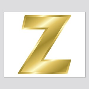 Gold Letter Z Posters